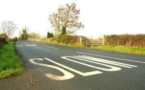 Road markings and signs can distract motorists