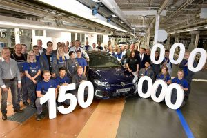 And the model taking the glory was a blue Golf GTE
