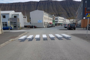 Could 3D zebra crossings help drivers to slow down?