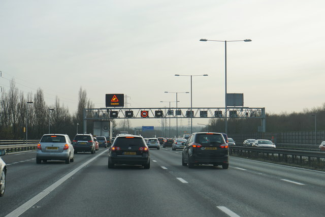 Ignoring gantry signs is against the law and extremely dangerous