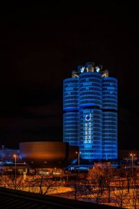Their Munich HQ was lit up in celebration of their huge achievement