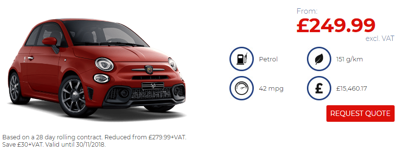 Abarth 595 Black Friday Offer