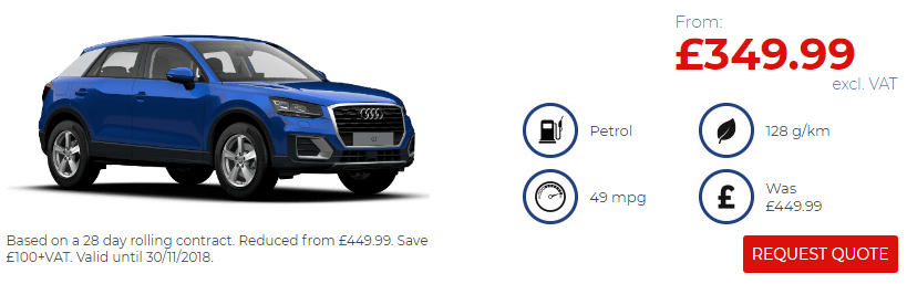 Audi Q2 Black Friday Offer