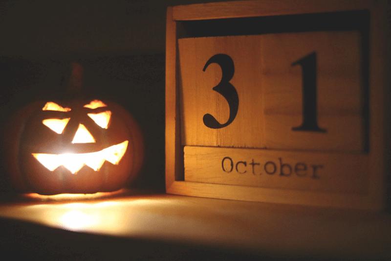 Calendar next to a Pumpkin