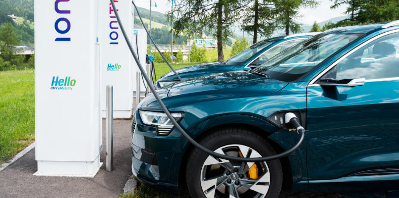 Audi E Tron Outside charge