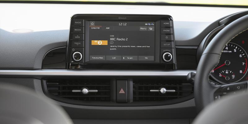 Kia Picanto X-Line Infotainment Screen