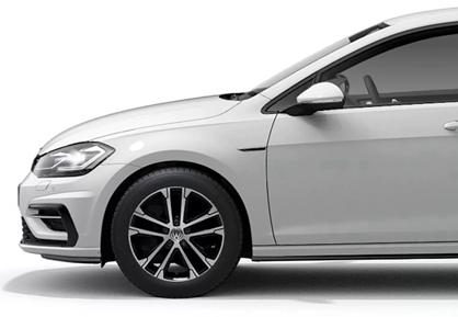 White Volkswagen Golf Side View